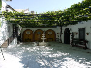 The patio at Bodegas Cruz Conde